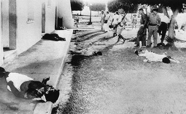 Révolutionnaires tués aux abords de la Moncada
