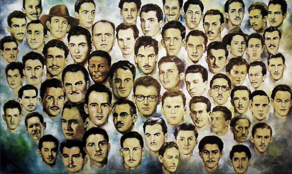 Les révolutionnaires tués à la Moncada