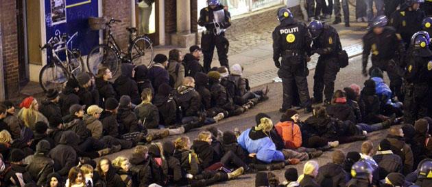 Le black bloc piégé à Copenhague (2009)