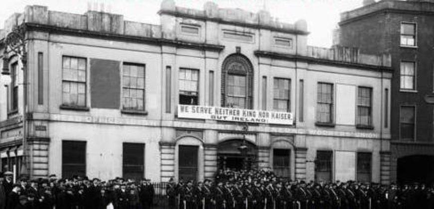 La bibliothèque de Dublin au moment de l'insurrection de Pâques