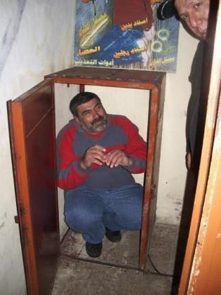 Caisson d'acier où un prisonnier pouvait être enfermé plusieurs jours durant