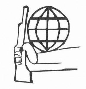 Le symbole du Mouvement du 2 Juin, qui est aussi celui de la Conférence Tricontinentale de 1966
