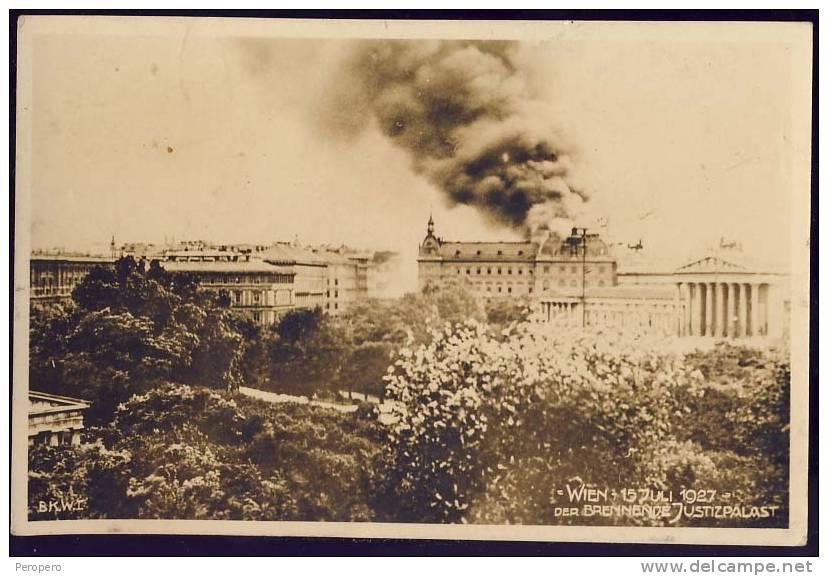 15 juillet 1927: L'incendie du palais de justice de Vienne