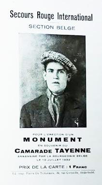 Souscription du Secours Rouge pour le monument funéraire de Louis Tayenne