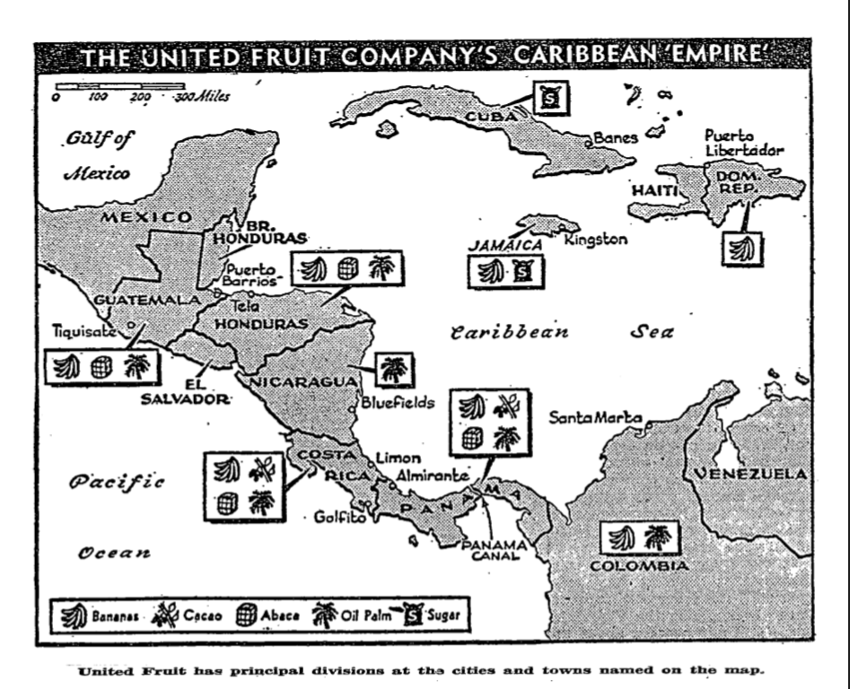 L'empire caribéeen de l'United Fruit