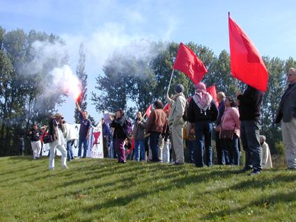Manifestation à la prison de Bapaume