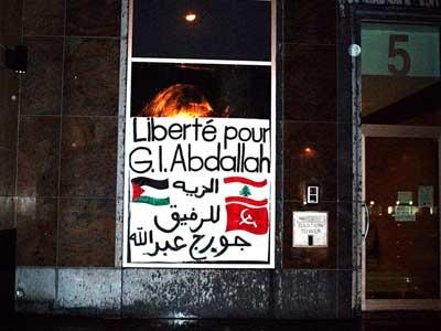 Placard en solidarité avec GI Abdallah