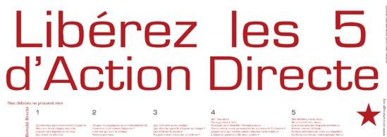 Affiche SR pour Action Directe