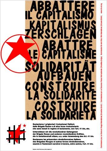 Affiche du SRI pour les prisonniers italiens