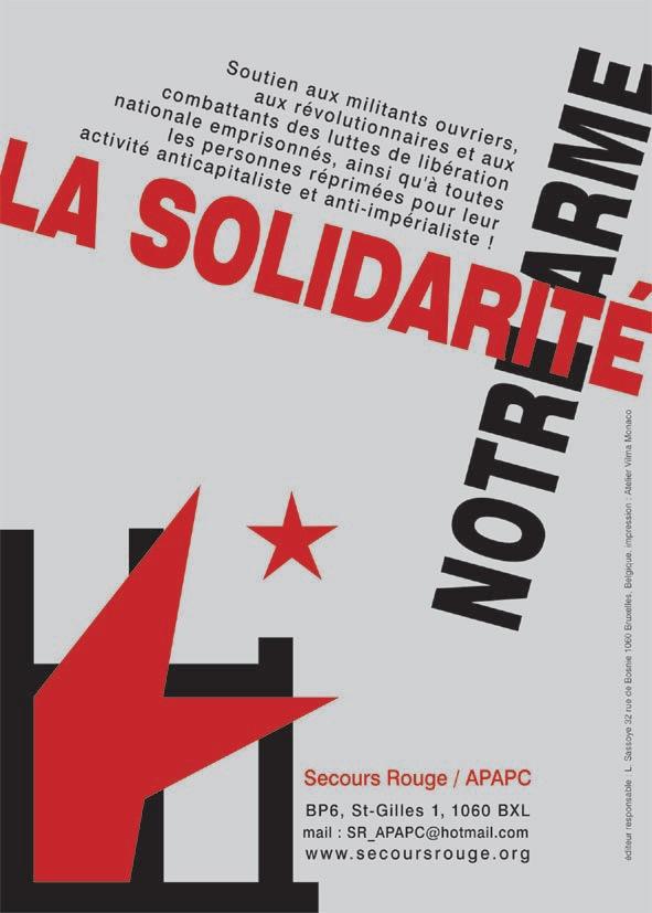 Affiche générale du Secours Rouge/APAPC - Janvier 2004 - Sérigraphie