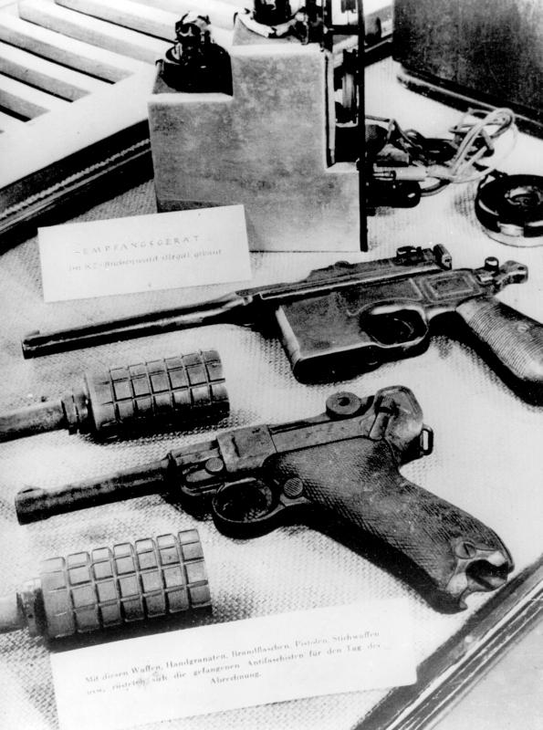 Les armes de l'organisation clandestine de Buchenwald