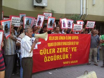 Manifestation pour Güler Zere en Turquie