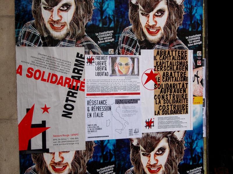 Affichage en vue du meeting du 9 avril 2008 à Bruxelles