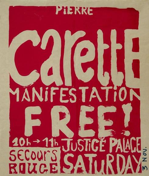 Affiche pour la libération de Pierre Carette - Septembre 2002 - Offset