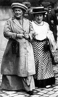 Clara Zetkin et Rosa Luxembourg