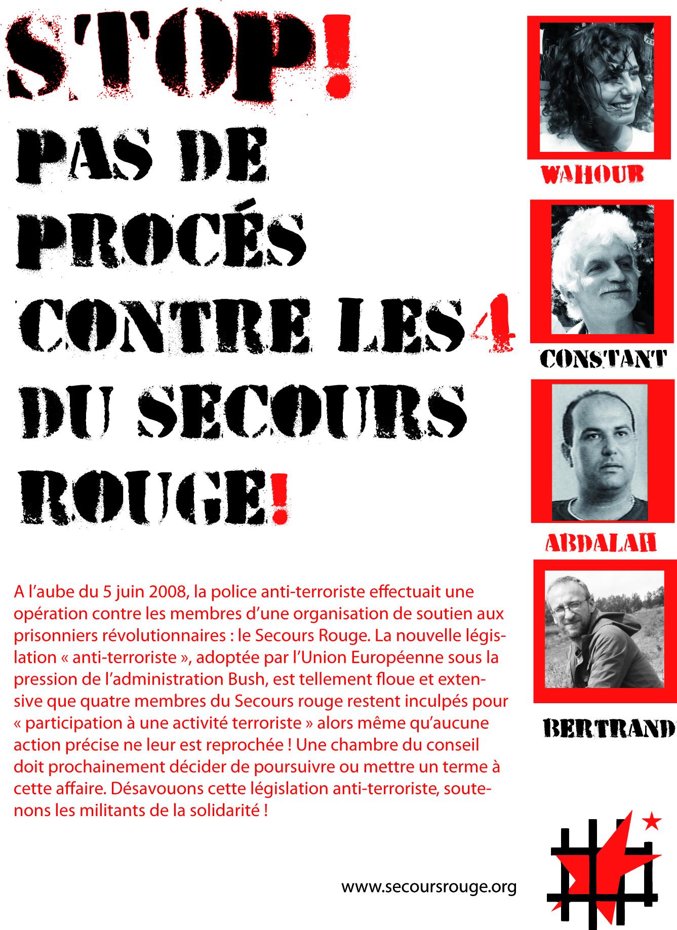 Affiche de la campagne NoProcès