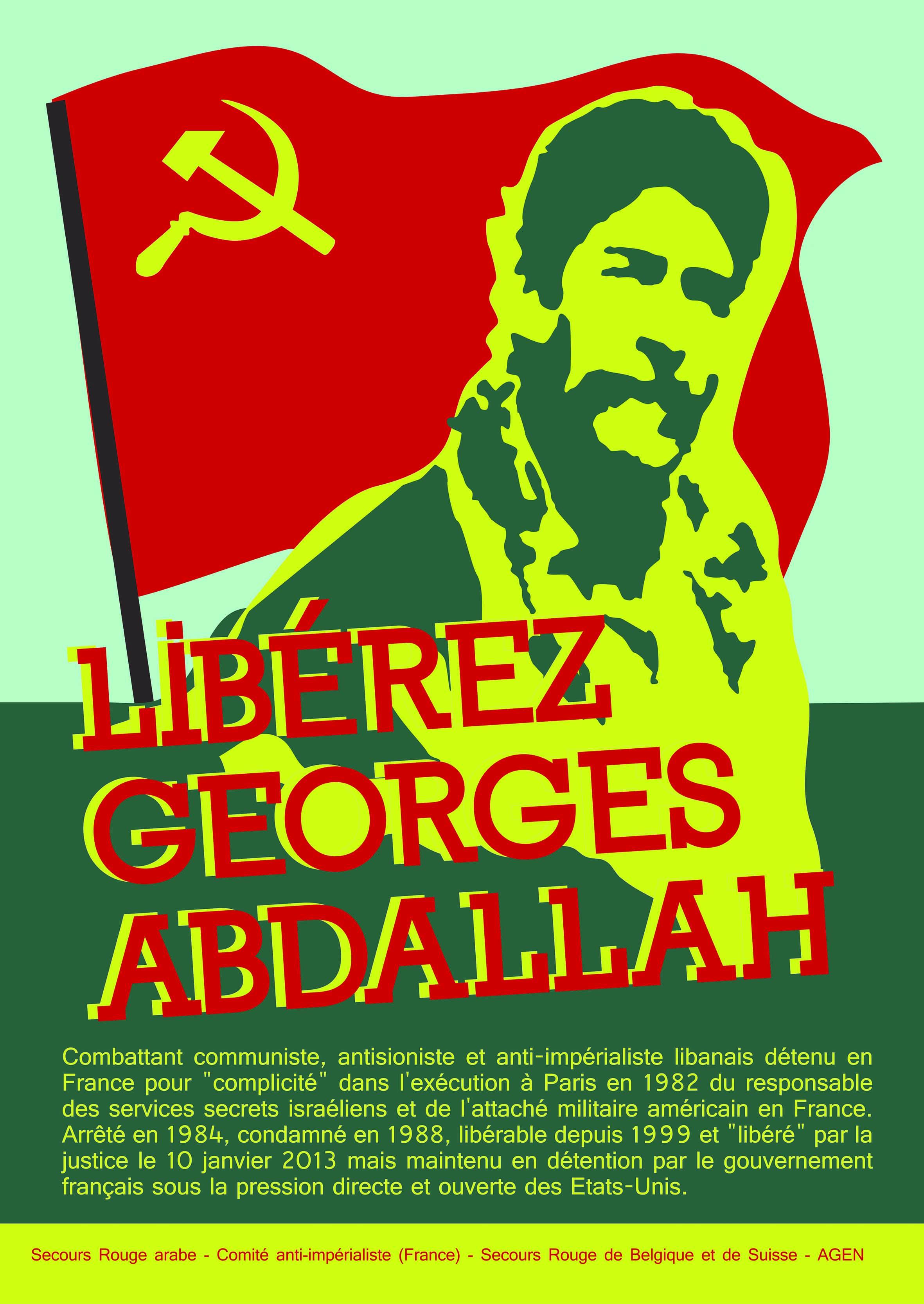 Affiche pour la libération de Georges Ibrahim Abdallah