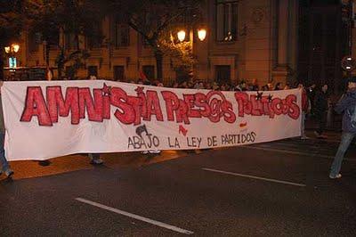 Manifestation pour l'amnistie des prisonniers politiques
