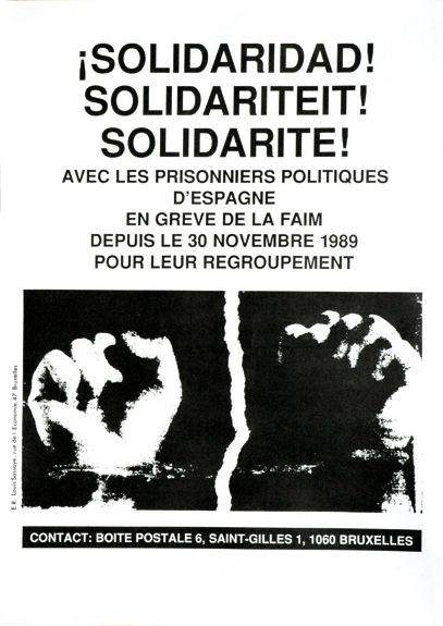 Affiche de solidarité avec les prisonniers espagnols