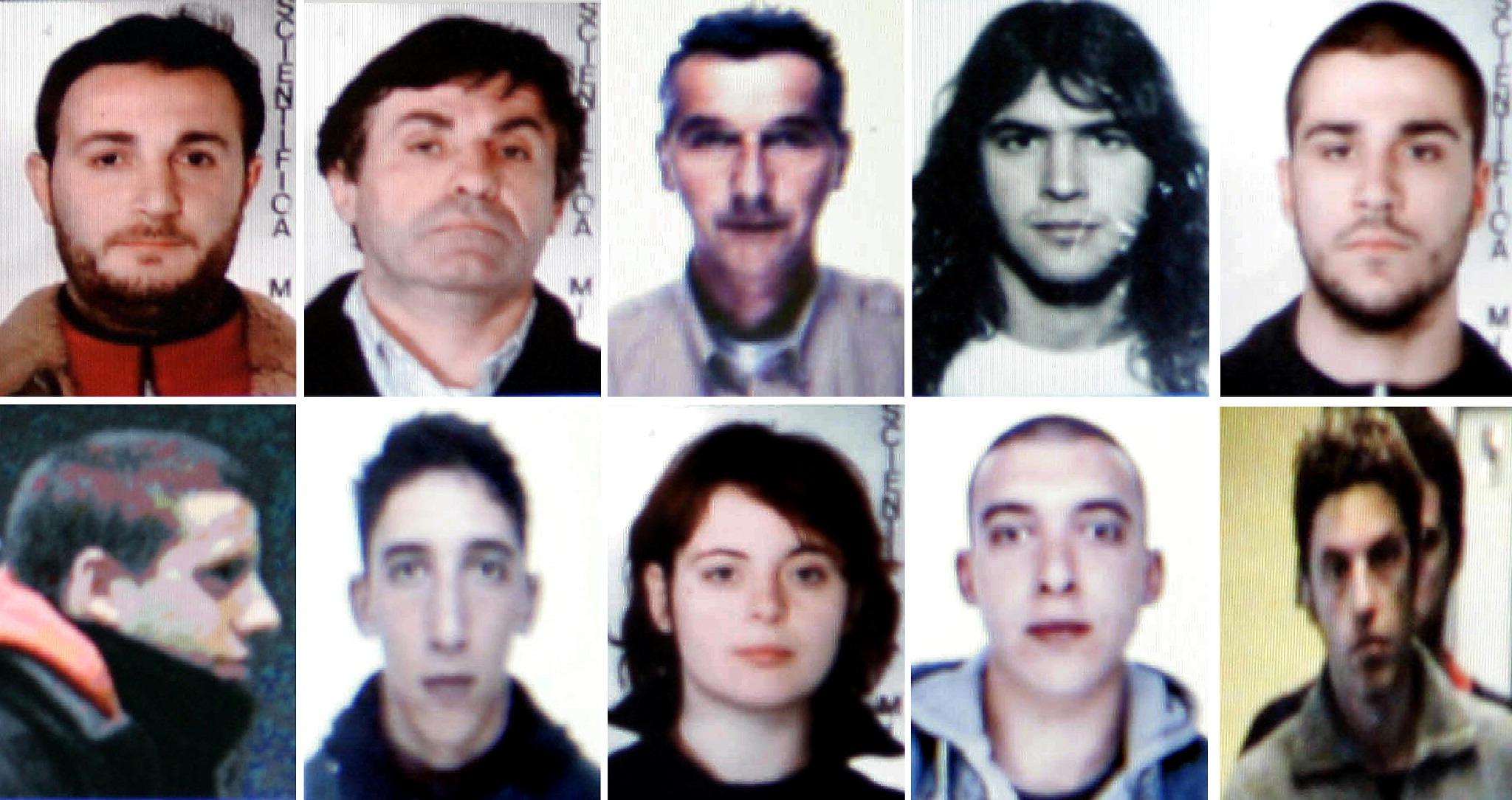 Quelques uns des militants italiens arrêtés