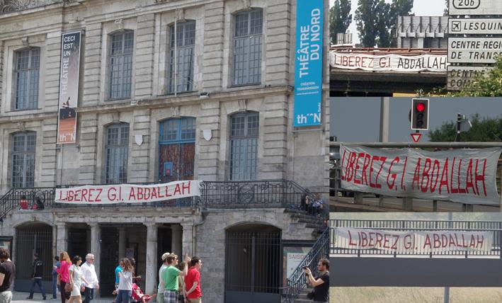 banderoles Georges Ibrahim Abdallah Lille 6 juillet 2013