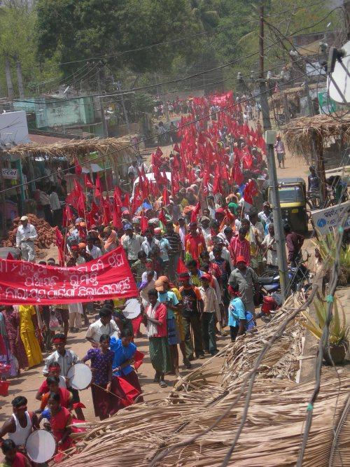 Manifestation de paysan au Lalgarh