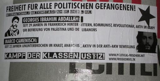 Affiche Stuttgart Georges Ibrahim Abdallah
