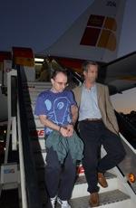 Descente d'avion des militants basques