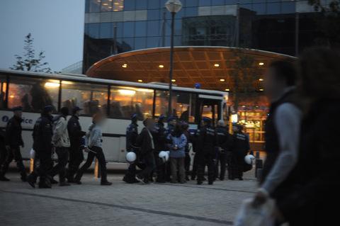 Rafle gare du Midi le 1er octobre