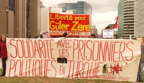 Rassemblement pour Güler Zere à Bruxelles