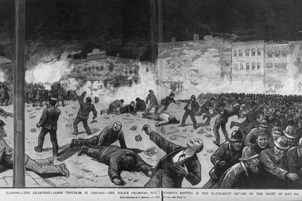 La répression du rassemblement de Haymarket