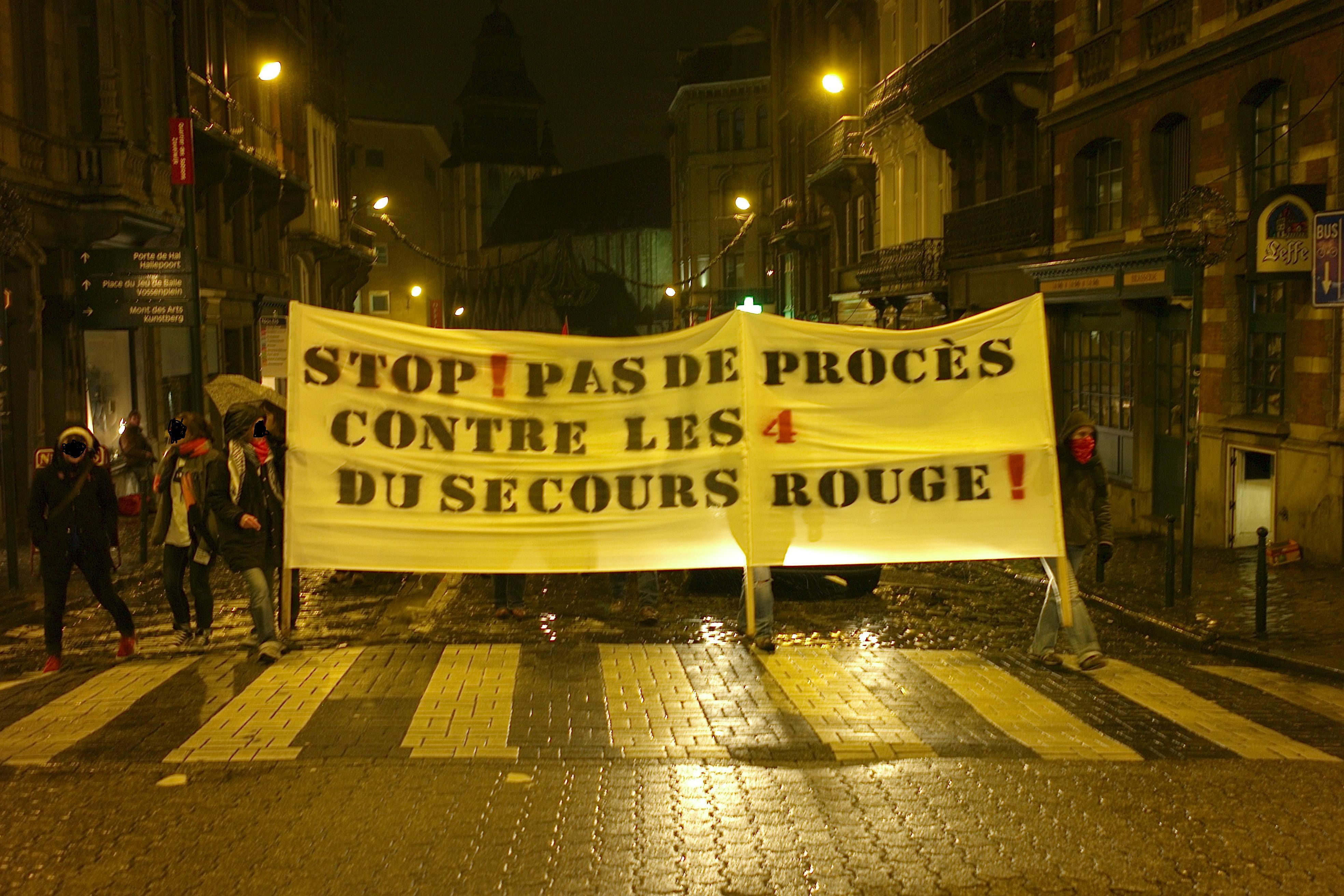 Manifestation solidaire des 4 du SR à Bruxelles