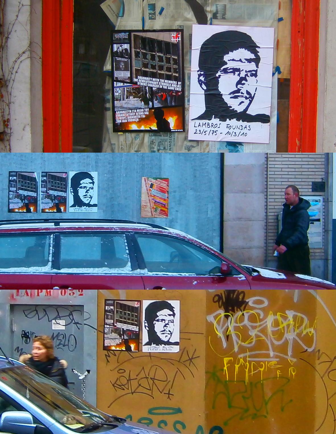 Collage pour Lambros Fountas à Bruxelles en 2013