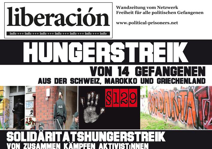 La publication du Netzwerk Freiheit für alle politischen Gefagenen