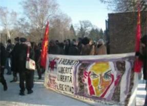 La délégation de notre Secours Rouge au 90e anniversaire de l'assassinat de Rosa Luxembourg (janvier 2009)