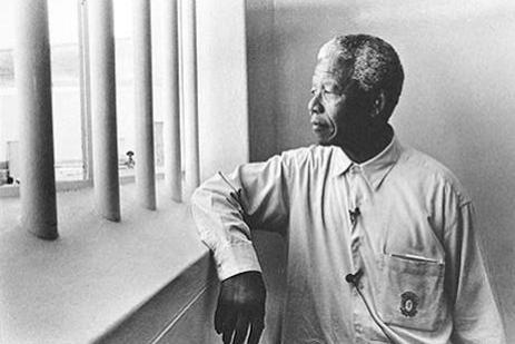 Mandela dans sa cellule