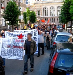 Manifestation pour le SR belge