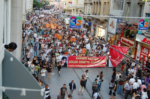 Manifestation pour Güler Zere
