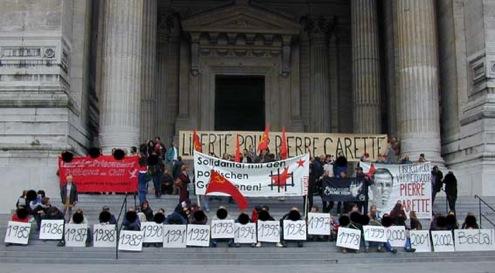 Manifestation pour Pierre Carette