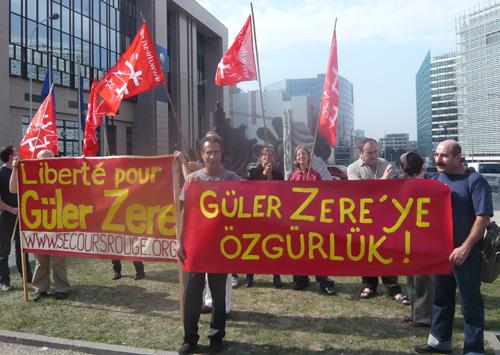 Manif à Bruxelles pour Güler Zere