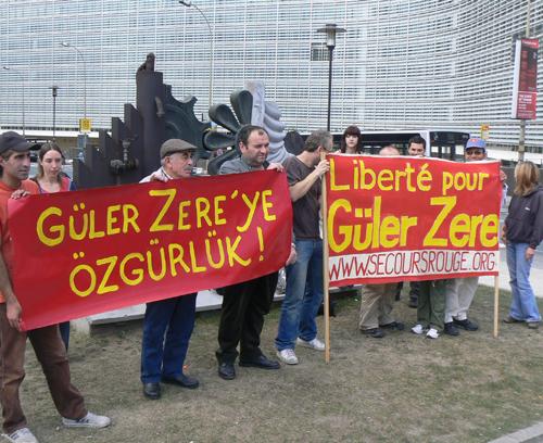 Manif pour Güler Zere à Bruxelles