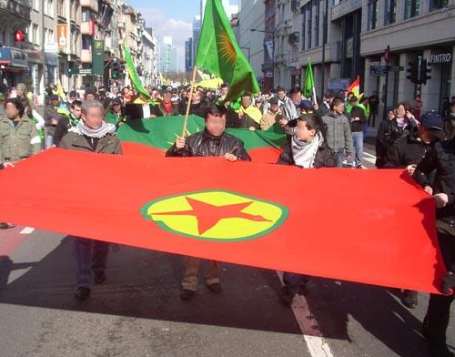 Manifestation en soutien aux kurdes à Bruxelles