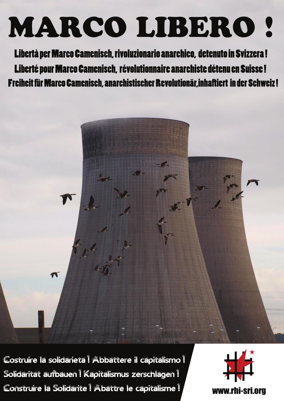 Affiche du SRI pour Marco Camenisch