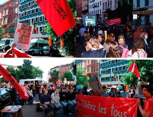Rassemblement solidaire à Berlin