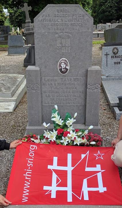 9 juillet: notre SR fleurit le monument Tayenne au cimetière de Marchienne