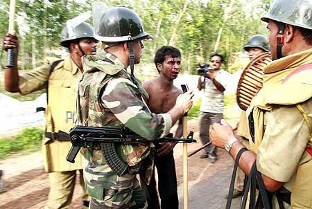 Forces de sécurité en action