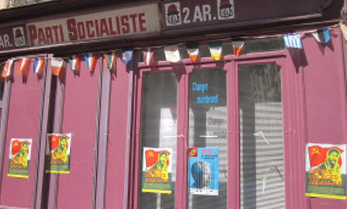Collage Georges Ibrahim Abdallah siège PS Paris