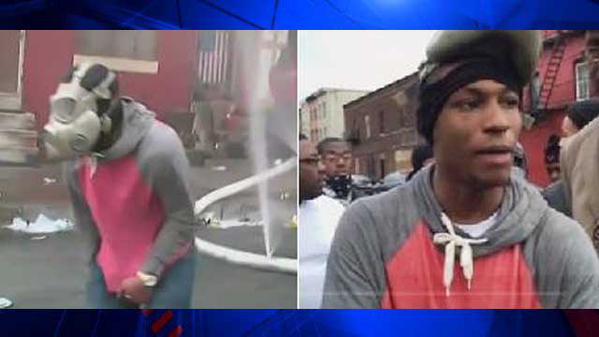 Un assemblage d'images prises à des moments différents par des personnes différentes, lors des émeutes de Baltimore, ont permis à la police de lancer un avis de recherche.