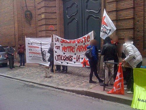 Rassemblement pour les 4 du SR au consulat belge à Toulouse