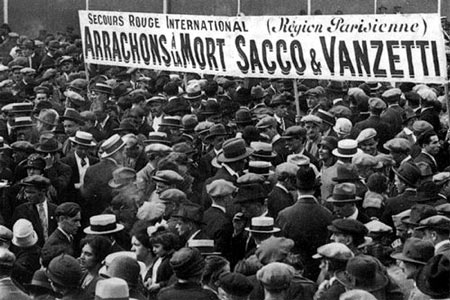 Manifestation Sacco et Vanzetti